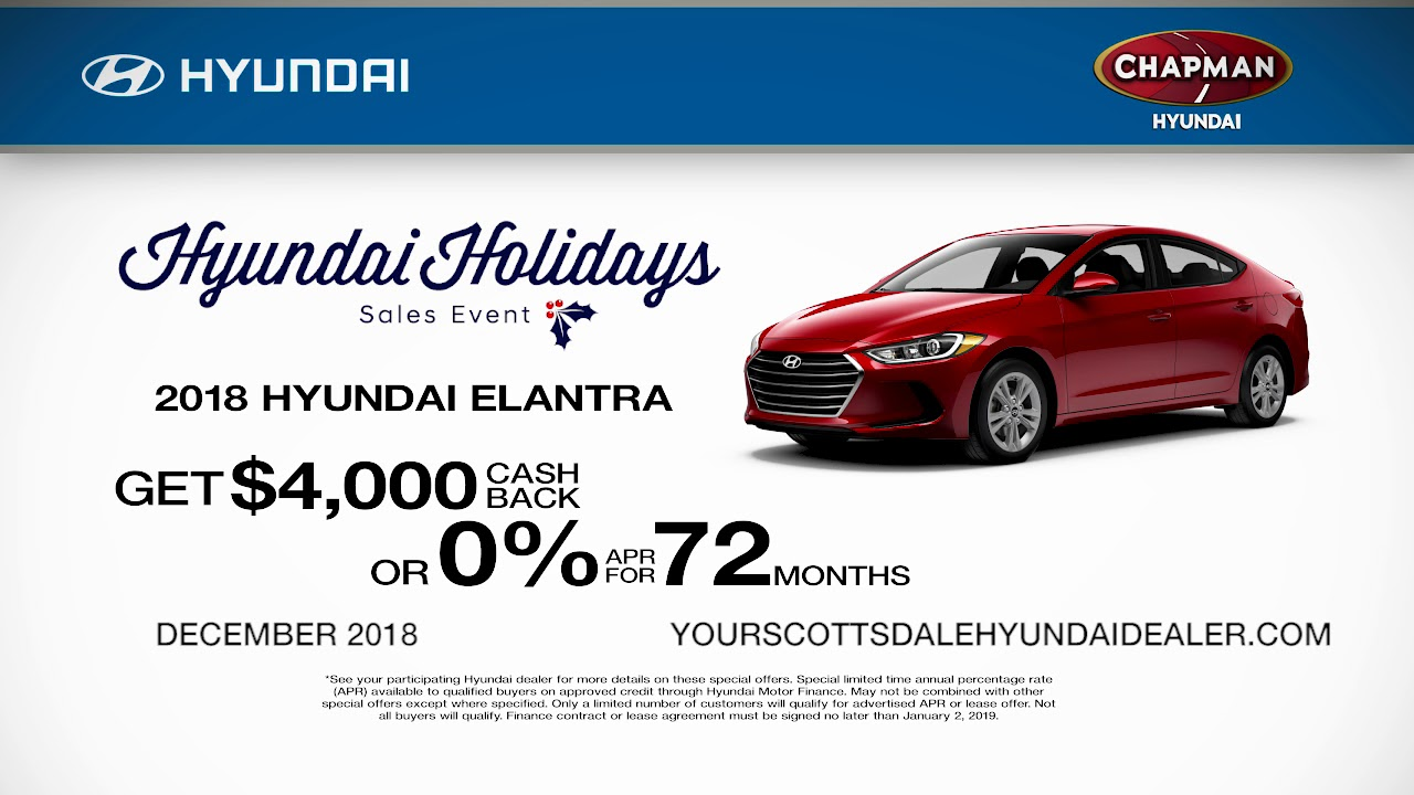 Chapman Hyundai Scottsdale >> Chapman Hyundai Scottsdale December 2018 Offers