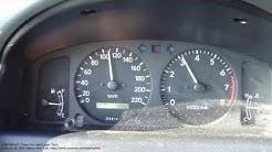 Toyota Corolla 1.6 VVT-i acceleration test 0 km/h to 100 km/h