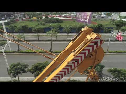 宇球國際塔吊拆除作業紀錄  必捷吊車LIEBHERR LTM1500-8.1