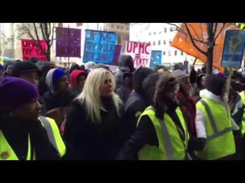 UPMC protesters react to Mayor Bill Peduto