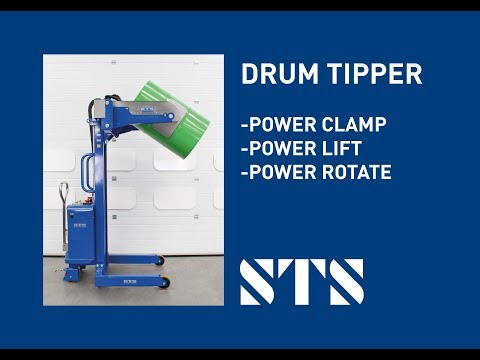 Electric Drum Rotator With Powered Clamp, Lift And Rotate (Model: STE01-RRH01)