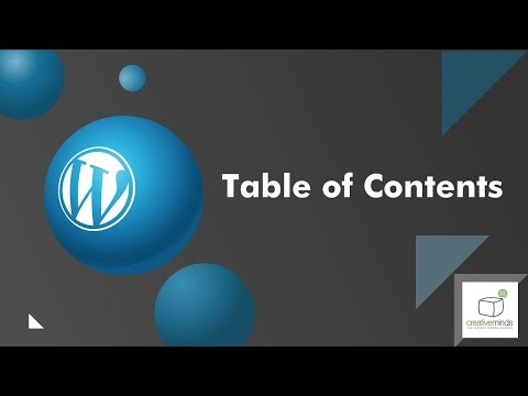 Easily Build a Table of Contents in your WordPress Blog Pages or Posts