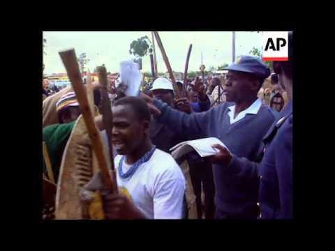 S.Africa - Mandela Addresses Rallies Re Police