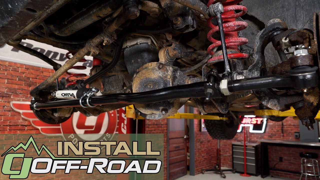 Jeep Wrangler Jk Currie Tie Rod Currectlync With Steering Stabilizer Drag Link Mount 2007 2018 Installation