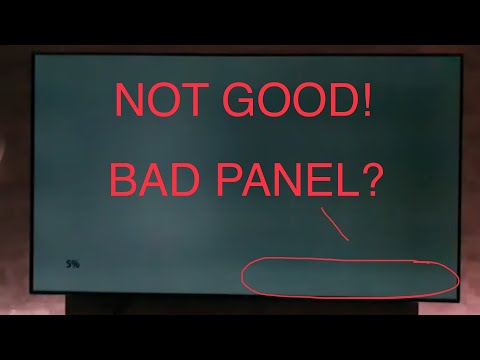 NEW LG OLED panel banding & burn in test,WORST panel I've seen!