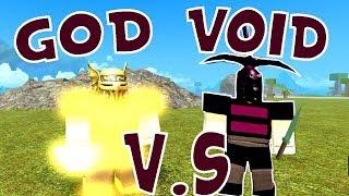 GOD ARMOR V.S VOID ARMOR | Roblox booga booga