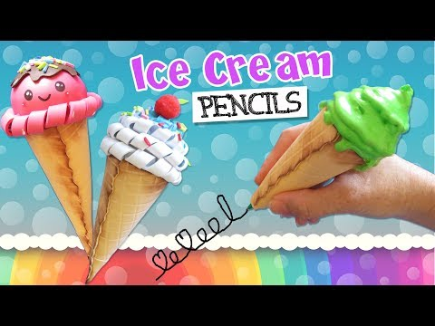 3 DIY ICE CREAM PENCILS - SCHOOL SUPPLIES - BACK TO SCHOOL | aPasos Crafts DIY