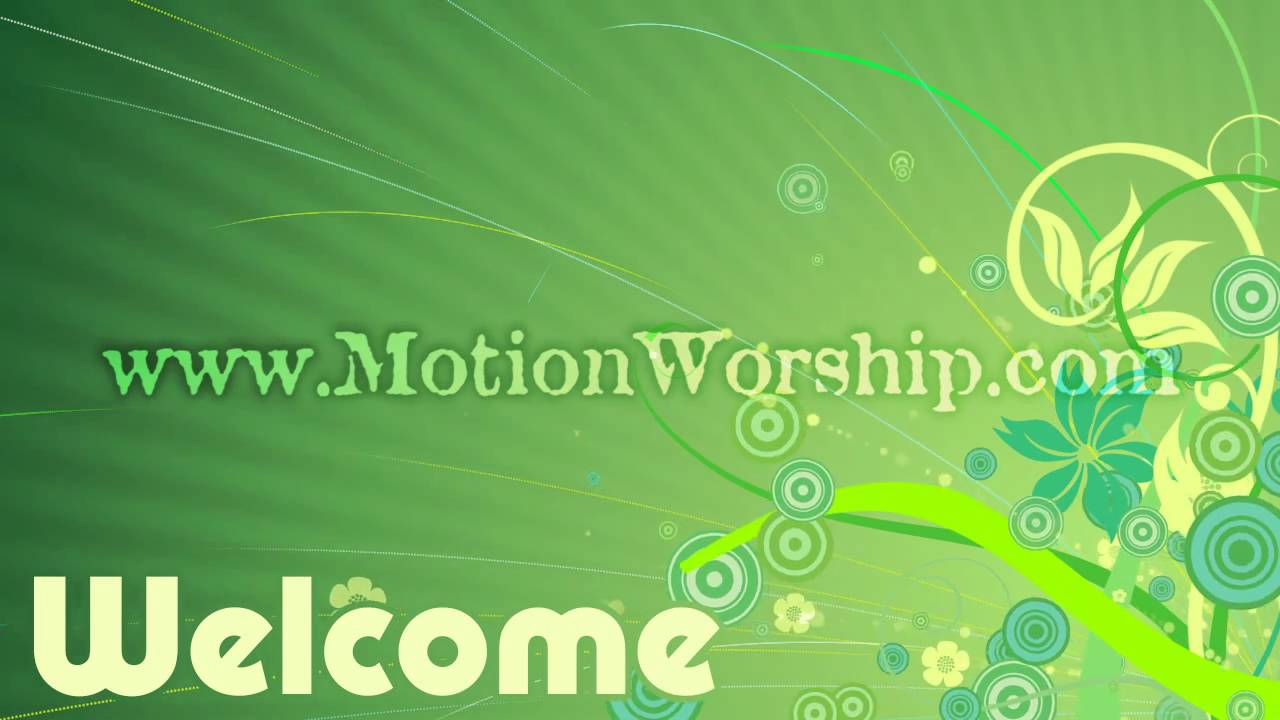 Spring Welcome Slide HD Worship Video Background - YouTube