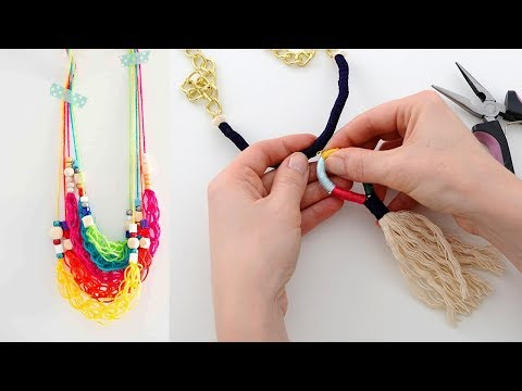 DIY JEWELRY IDEAS FOR TEENAGERS | Easy DIY NECKLACE PROJECTS!