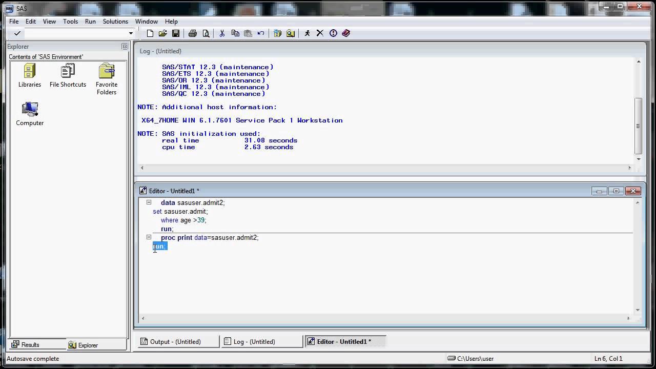 Intro To Sas Base Programming Certification Youtube