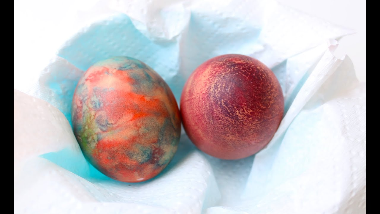 How to dye Easter eggs with shaving cream - YouTube