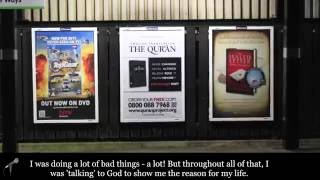 MUST LISTEN I got a copy of Quran which make me Muslim! Billboard Testimonial from Jason