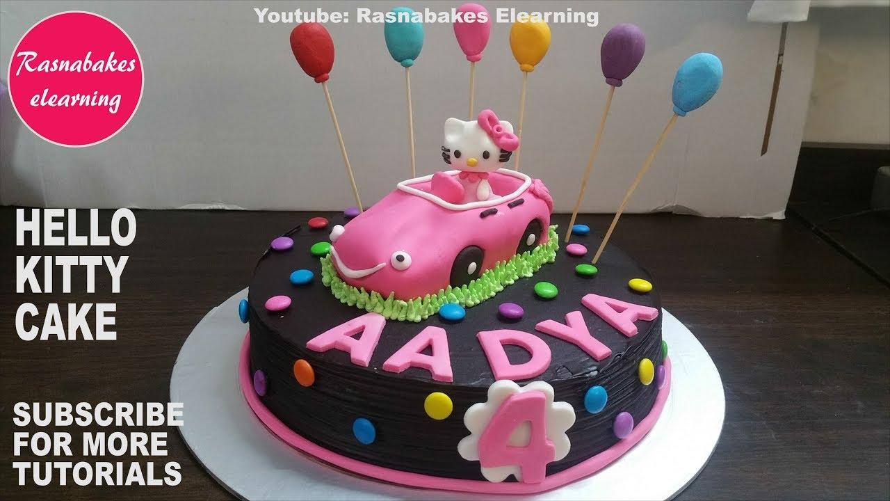 Hello Kitty Games Toys Theme Custom Birthday Cake Design Ideas Decorating Classes Tutorial Videos