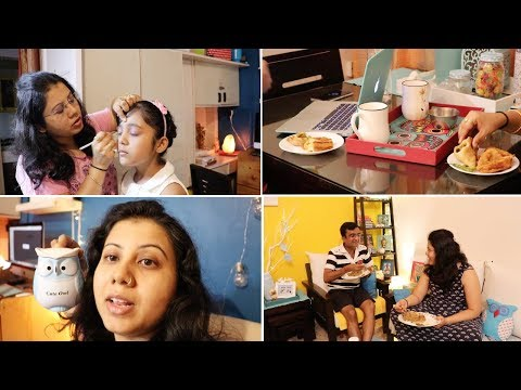 Getting My Daughter Ready For Birthday Party ! Easy Weekdays Dinner Routing | Maitreyee's Passion