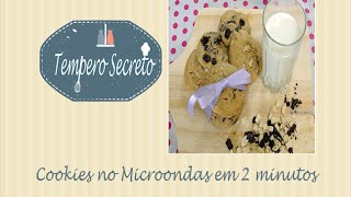 Cookies no microondas em 2 minutos | Tempero Secreto