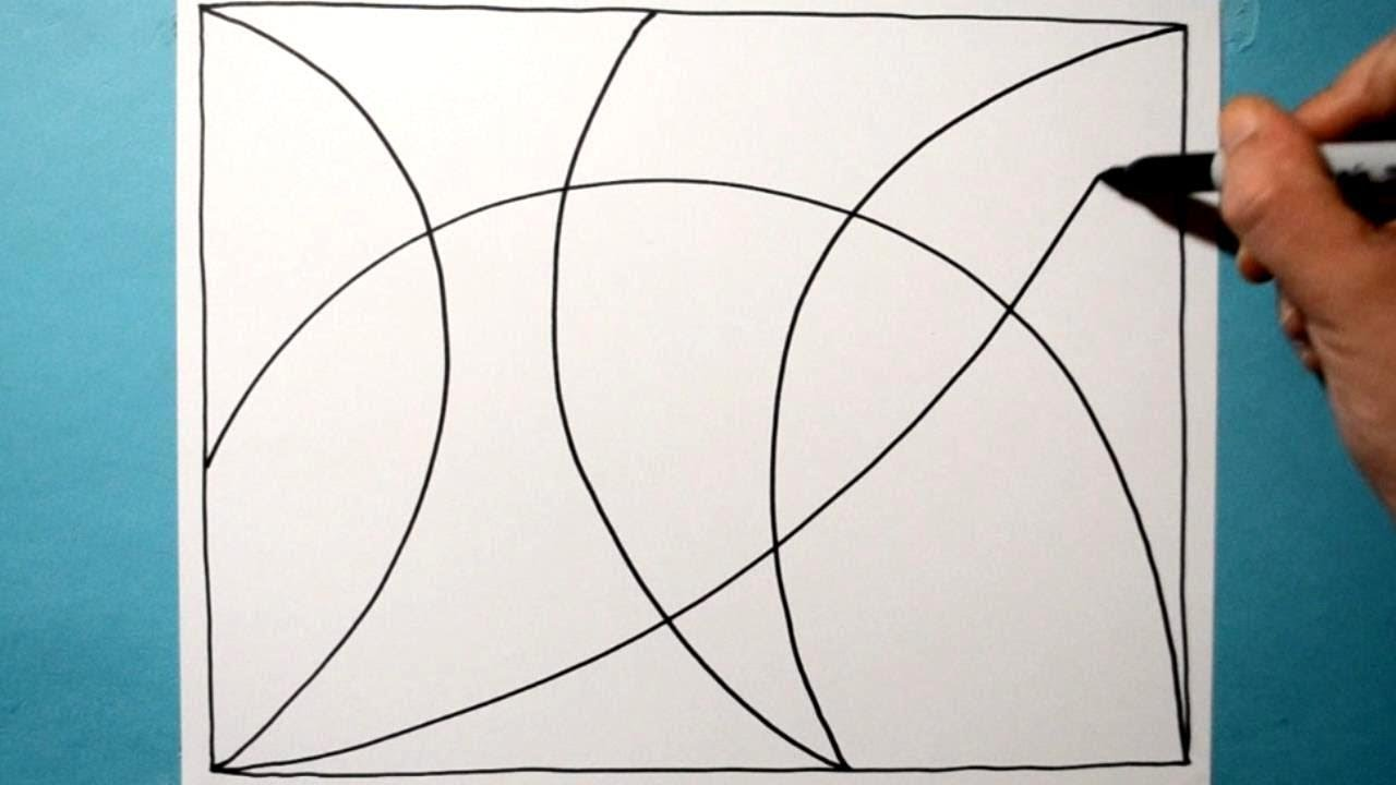 Cool 3D Curved Pattern / Line Illusion Drawing / Daily Art Therapy / Day  0104