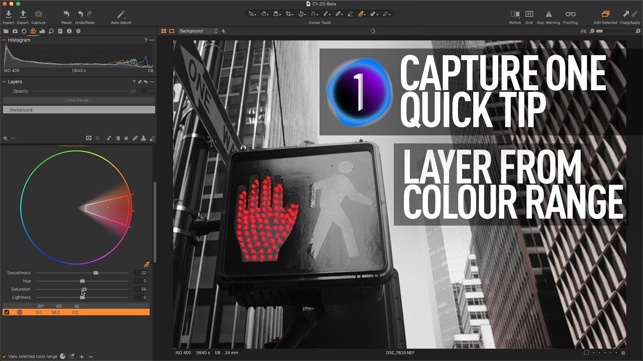 Capture One Quick Tip - Create Layer based on Colour Range