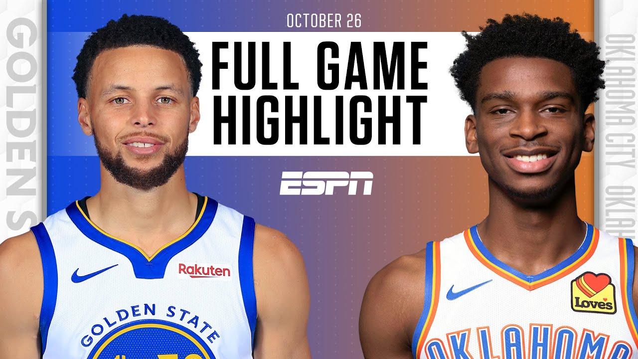 Warriors vs. Thunder - Game Recap - October 26, 2021 - ESPN