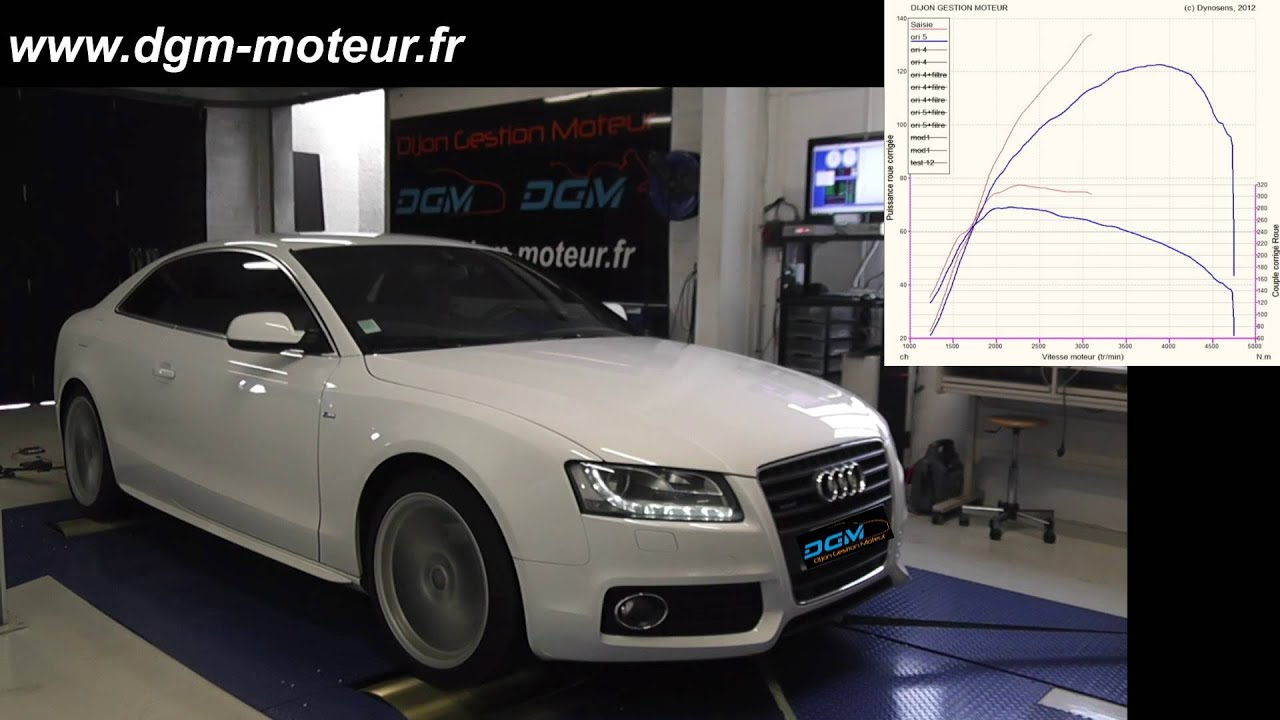 reprogrammation audi a5 2 0l tdi 170ch dijon gestion moteur youtube. Black Bedroom Furniture Sets. Home Design Ideas