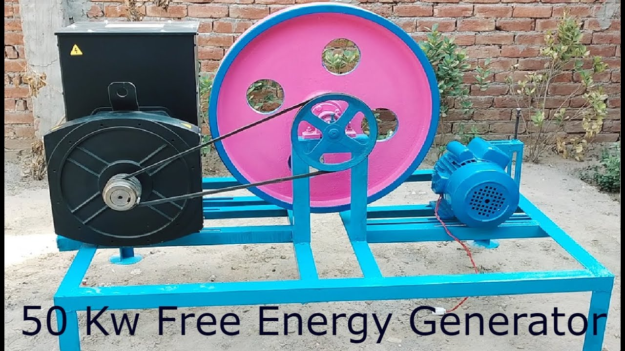 How To Make 50kw Free Energy Generator From 50kw Alternator And 5 hp  2850 Rpm Induction Motor
