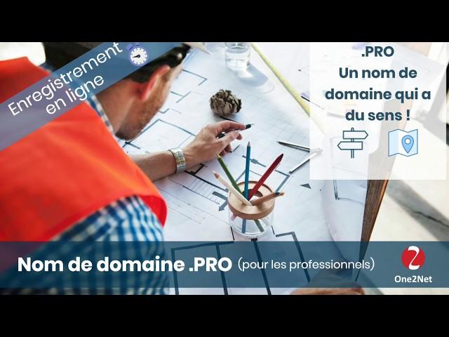 Achat de nom domaine .PRO (professionnel)