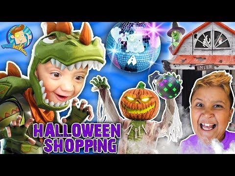 HALLOWEEN SHOPPING For Costumes With FUNnel Fam Vlog Vision (2018 Spirit Halloween Store Tour)