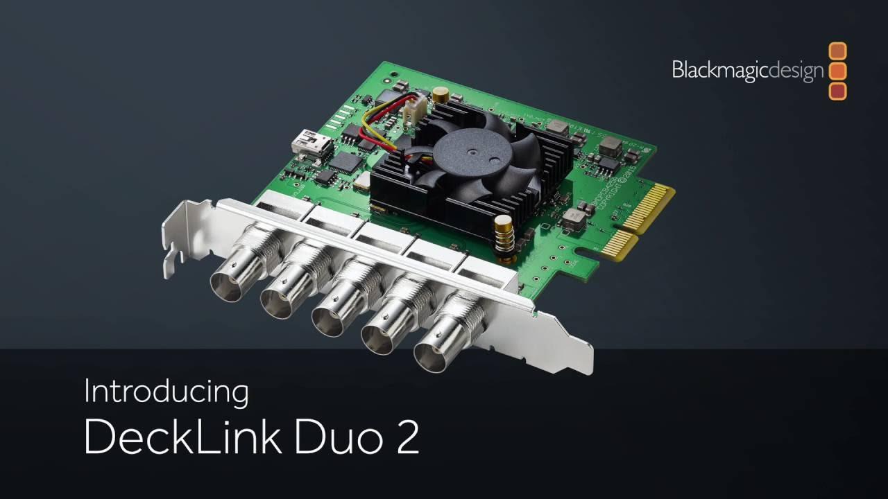 Introducing Decklink Duo 2 Youtube