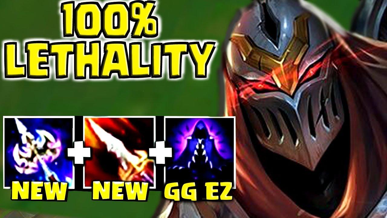 New Zed Build 100 Lethality God Tier Zed Youtube