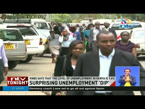 KNBS says the level of unemployment in Kenya is 7.4%