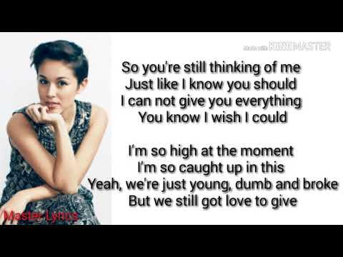 Young Dumb And Broke - Khalid - KINA GRANNIS COVER ( Lyrics )