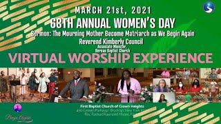 March 21st, 2021: Women's Day 2021 Sunday Morning Virtual Worship Service
