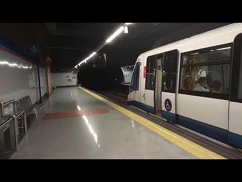 Metro de Madrid:8067 saliendo de Colombia