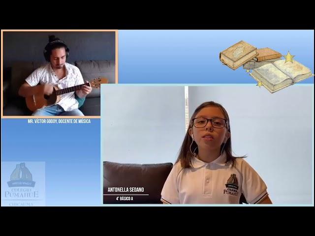 Cantando Décimas en la semana del libro de Pumahue Chicauma