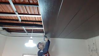 طريقة تركيب سقف مستعار بلاستيك على سقف حديد بدون بيتون