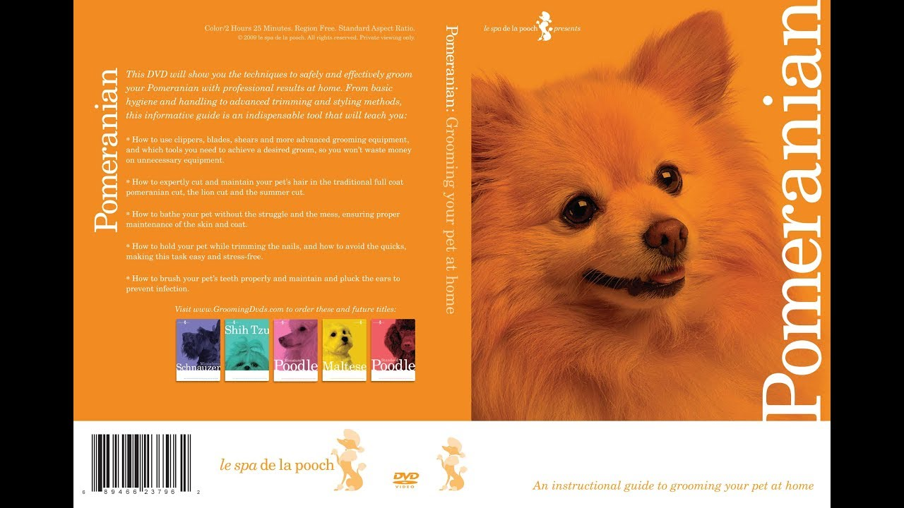 Pomeranian Dog Grooming Instructional How To Dvd Video And Equipment