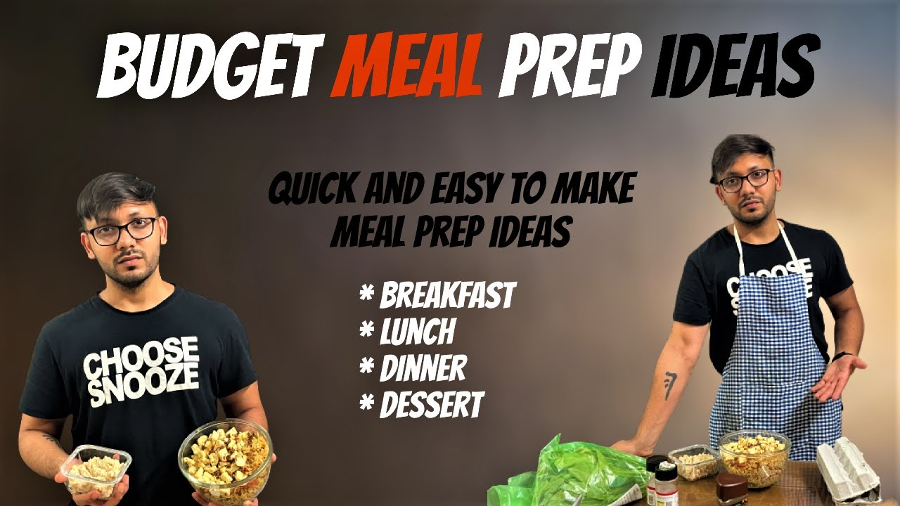 1200 CALORIE Quick and Healthy Budget MEAL PREP + No Equipment HOME WORKOUT Plan