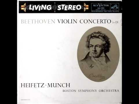 Beethoven Violin Concerto in D : Heifetz , Munch Boston Symphony Orchestra (RCA LSC 1992 Vinyl Rip)