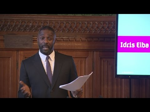 Actor Idris Elba delivers powerful speech on diversity in TV - YouTube