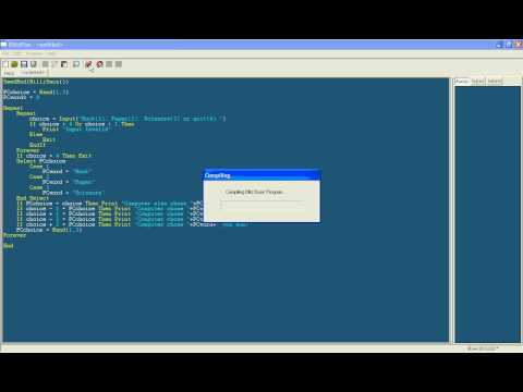 Simple Beginner BlitzPlus Tutorial 3 - Rock, Paper, Scissors Program (Blitz Basic)