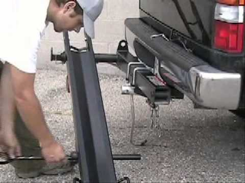 boss hitch mounted motorcycle carrier installation youtube. Black Bedroom Furniture Sets. Home Design Ideas