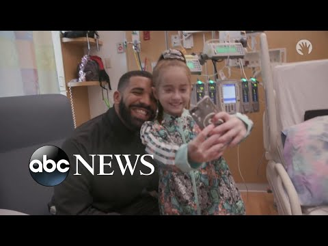 Drake visits young heart transplant patient from Kiki challenge