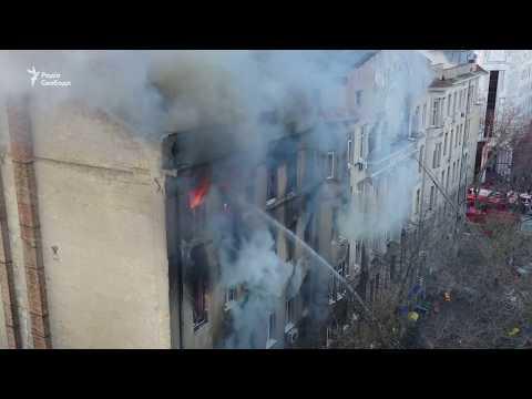 Пожежа в Одесі – відео з дрону