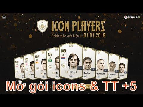 Bàn tay thối | Mở gói Huyền Thoại (icons) và gói TT chỉ định +5 FIFA Online 4