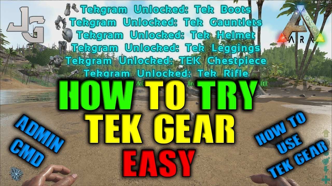 ARK - Wanna try the Tek Gear? I'll show you how - Singleplayer/unofficial  server only