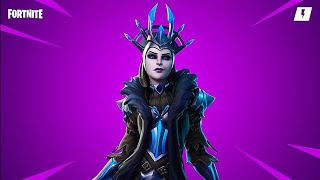 Top 1 with the New Ice Queen skin on fortnite
