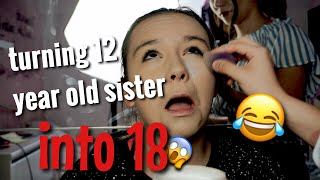 Turning my YOUNG sister INTO 18! | Celina Blogsta