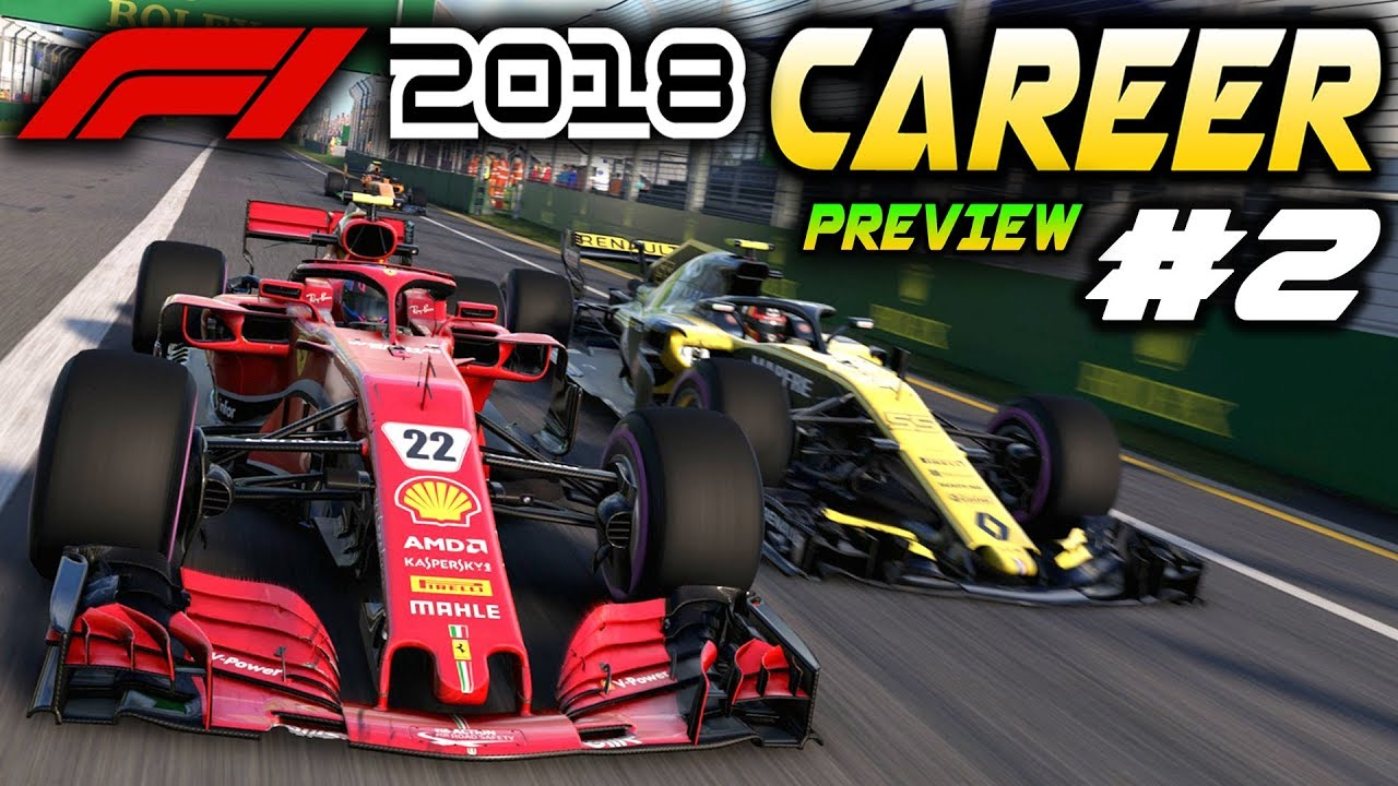 F1 2018 PS4 CAREER MODE Preview Part 2: FIRST RACE! AI IMPROVEMENTS (F1 2018 Game Ferrari Career) - YouTube