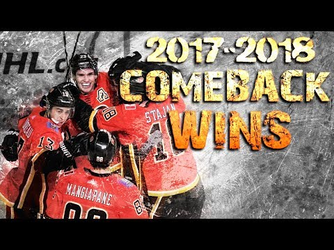 Calgary Flames Comeback Wins - 2017/2018 Season