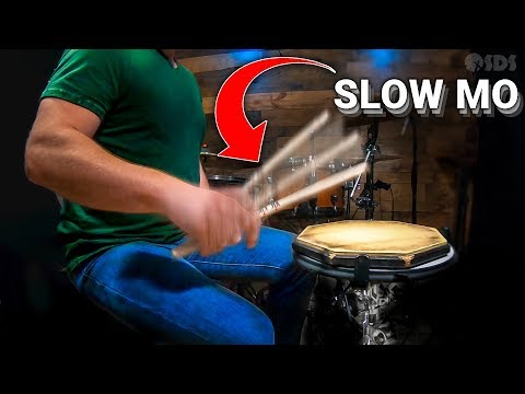 Secret To Moeller Stroke Revealed In Slow Motion (Drum Technique)