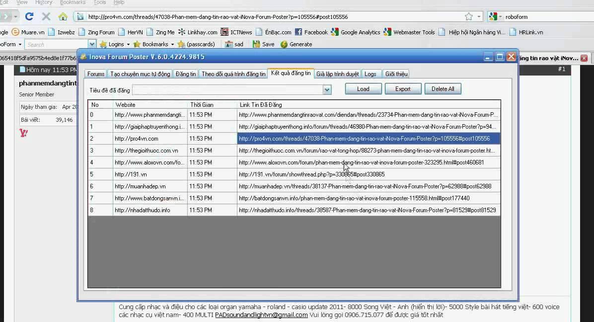 Phần mềm đăng tin rao vặt FREE (thành công 100%)